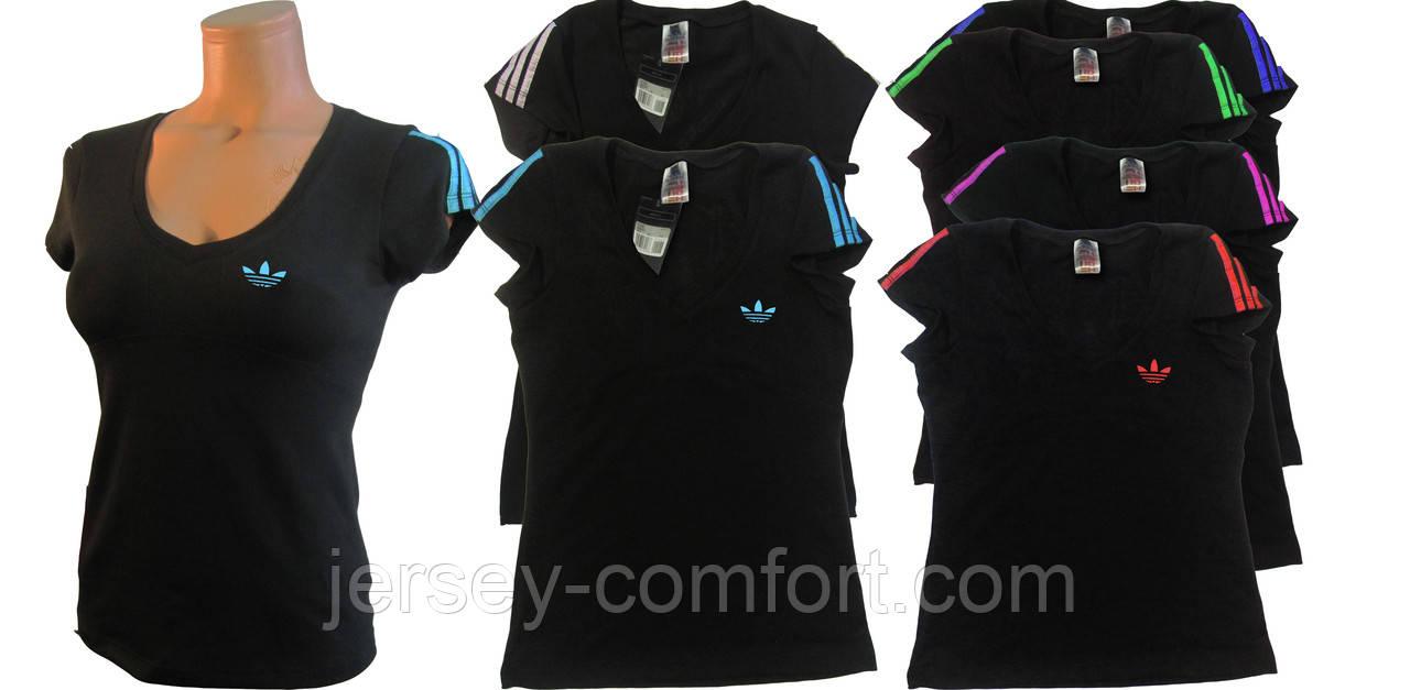 Футболка женская трикотаж черная. Мод. 820.