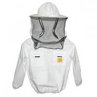 Куртка пчеловода детская с маской без замка Рост 128 см