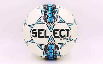 М'яч футбольний №4 PU ламінований ST NUMERO 10 REPLICA (біло-синій, зшитий вручну)