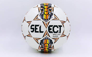М'яч футбольний №4 PU ламінований ST BRILLANT SUPER REPLICA (біло-помаранчевий, зшитий вручну)