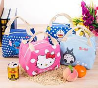 Дитяча термосумка-холодильник для їжі Hello Kitty, зайка Totoro, Doraemon, Stich, Baymax