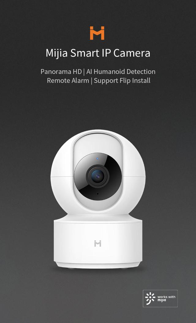 Умная ip камера Xiaomi Mi Home Security Camera 360° H.265 1080P Белая