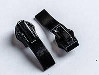 Бегунок №7 на спиральную молнию, art.015-н, цв. черный, фото 1