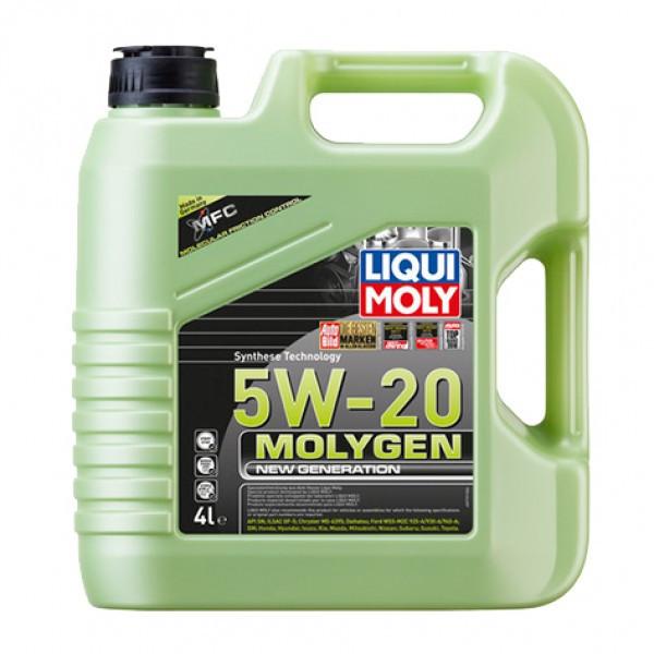 Синтетическое моторное масло - Molygen New Generation 5W-20   4 л.