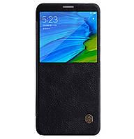 Кожаный чехол-книжка Nillkin Qin Series для Xiaomi Redmi Note 5 Pro / Note 5 (AI Dual Camera) Black