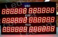 Светодиодное табло обмен валют одностороннее 490х280 мм LED-ART- 490х280 -1