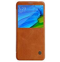 Кожаный чехол-книжка Nillkin Qin Series для Xiaomi Redmi Note 5 Pro / Note 5 (AI Dual Camera) Brown