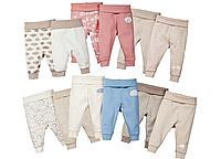 Дитячі штанці, штани для малюків, повзунки lupilu з 50 до 92 зростання з органічної бавовни