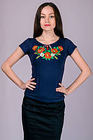 """Женская футболка-вышиванка """"Маки"""", фото 1"""