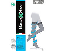 Компрессионные чулки 1 класса компрессии лечебные от варикоза  Relaxsan Basic 870A (140 den) с открытым носком