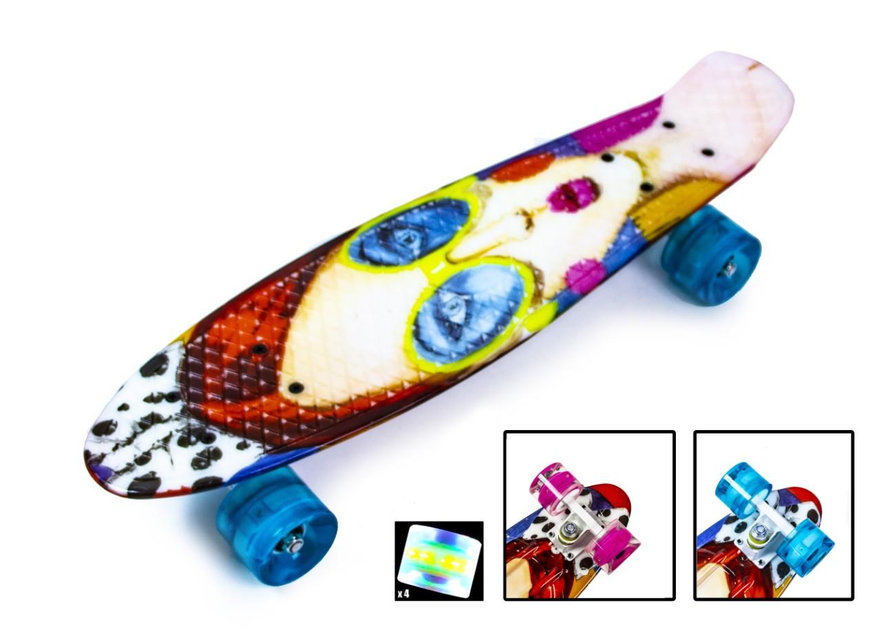 """Penny Board """"Cool Girl"""" Светящиеся колеса."""