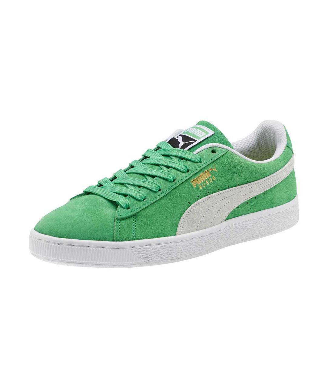 Зеленые мужские кеды Poma Suede Classic Sneakers