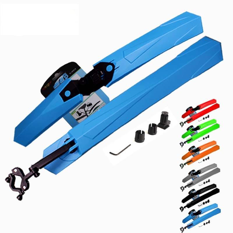 Комплект передних и задних универсальных защитных быстросъёмных вело-крыльев / болотников / щитков