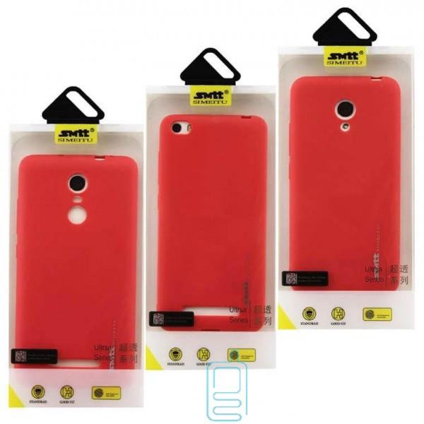Чехол силиконовый SMTT Samsung S6 Edge G925 красный