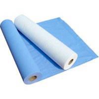 Простынь на кушетку, 0,6 * 100 м, синяя, материал СМС