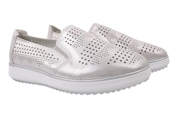 Туфли комфорт Li Fexpert натуральный сатин, цвет серебро