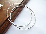 Серебряные серьги - кольца 70 мм. с Алмазной гранью, фото 3