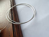Серебряные серьги - кольца 70 мм. с Алмазной гранью, фото 4