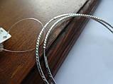 Серебряные серьги - кольца 70 мм. с Алмазной гранью, фото 5