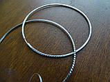 Серебряные серьги - кольца 70 мм. с Алмазной гранью, фото 6