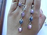 Кольцо серебряное с Улекситом Новелла , фото 6