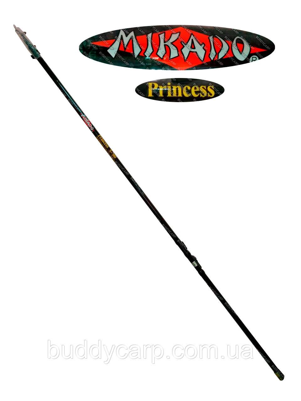 Удочка 6 метров тест 10-30 гр Mikado Princess с кольцами