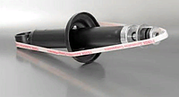 Амортизатор задней подвески ЗАЗ 1102, 1103. 1105 газомасляный (пр-во FENOX)