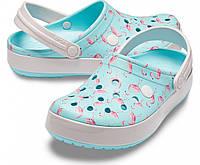 Женские кроксы с фламинго Crocs Crocband™ Seasonal Graphic Clog, оригинал