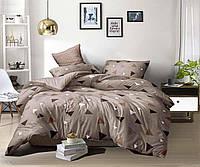 Сатиновое постельное бельё (12236) двуспальное евро 200*220 хлопок, фото 1