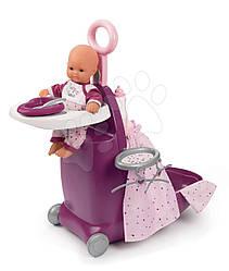 Набор для ухода за куклой - Раскладной Чемодан Baby Nurse Smoby, Прованс, Фуксия  18м+ (220346)