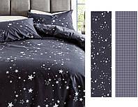Сатиновое постельное бельё (12237) двуспальное евро 200*220 хлопок, фото 1