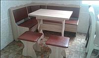 Кухонный уголок Лорд с раскладным столом +2табурета -  сонома/Винил Коричневый