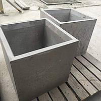 Вазон бетонный 500х500х500