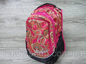 """Школьный прочный рюкзак для девочек, ранец, изображение """"Абстракция"""", на 3 отдела Розовый"""