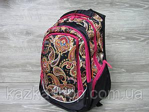 """Школьный прочный рюкзак для девочек, ранец, изображение """"Абстракция"""", на 3 отдела Черный"""