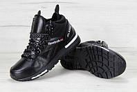 """Кроссовки мужские кожаные Reebok Insta Pump """"Черные"""" рибок р. 41-45, фото 1"""