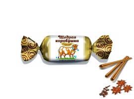 """Белорусские конфеты """"Щедрая коровушка"""" с корицей Красный Мозырянин"""