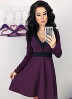 Платье вечернее выпускное расклешенное ( клеш ) с декольте с рукавами и повседневное Цвет : Бордовый Размер : 42 44 46 48 Материал : итальянский