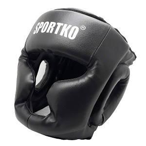 Защита боксера. Защитный боксерский шлем-маска( кожвинил ) ЧЕРНЫЙ.