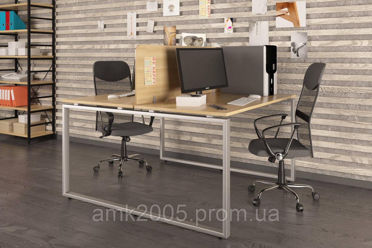 Двойной письменный стол Loft design Q-140 Дуб Борас