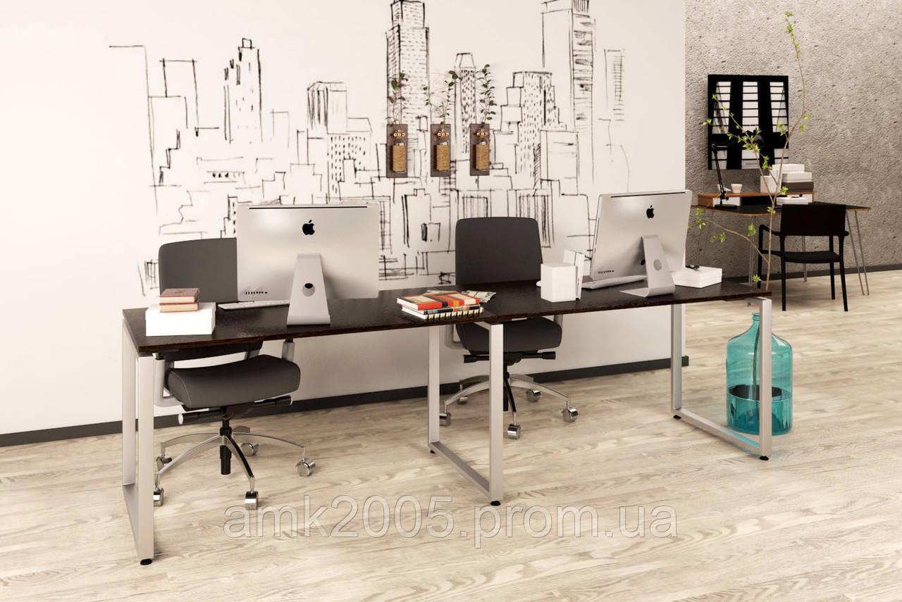 Двойной письменный стол Loft design Q-135-2 Венге Корсика