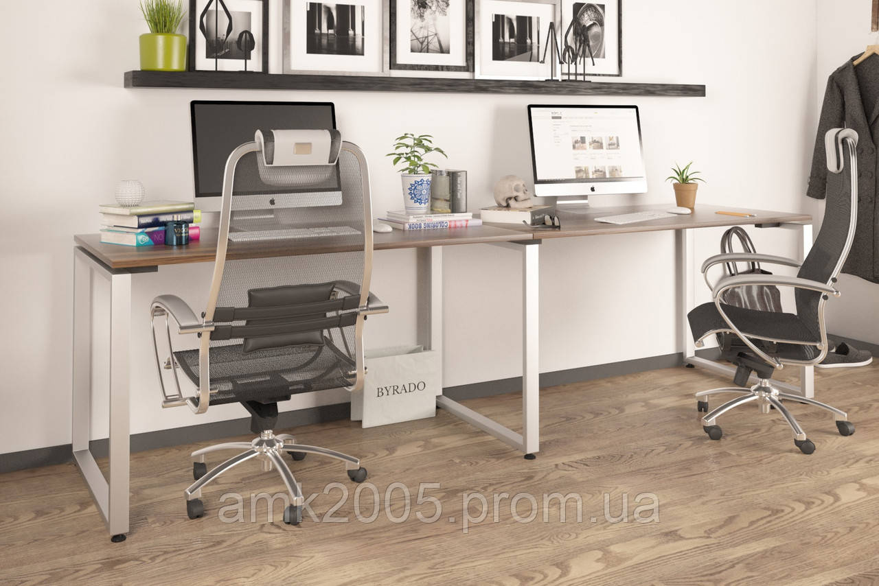 Двойной письменный стол Loft design Q-135-2 Орех Модена