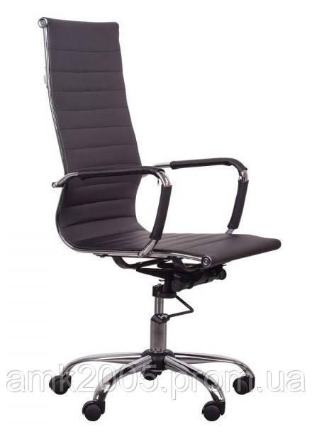 Кресло Слим HB АМФ чёрное Кожзам PU чёрный