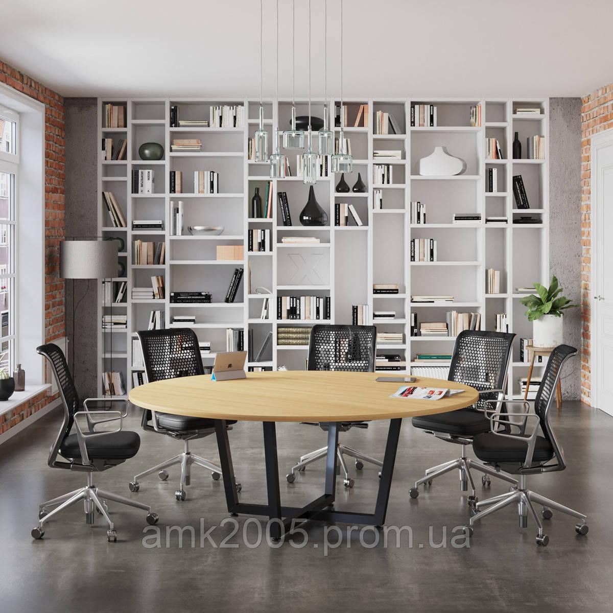 Стол для переговоров D-2000 Loft design Дуб Борас