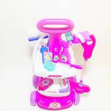 Набор детский для уборки с пылесосом, щетка, совок, звук, фото 4