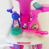 Набор детский для уборки с пылесосом, щетка, совок, звук, фото 5