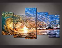 Модульная картина на стекле - Волна