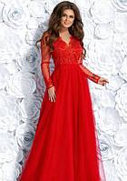 Платье вечернее выпускное размер 42, 44, 46 Цвет: красный k-49523