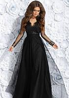 Платье вечернее выпускное размер 42, 44, 46 Цвет: черное k-49524