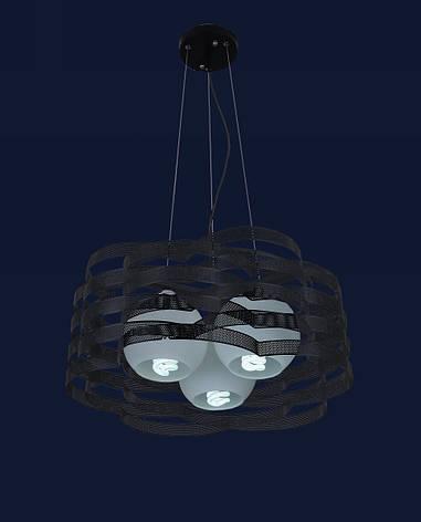 Люстра подвесная в стиле модерн на три плафона LV 7076207-3 черный, фото 2